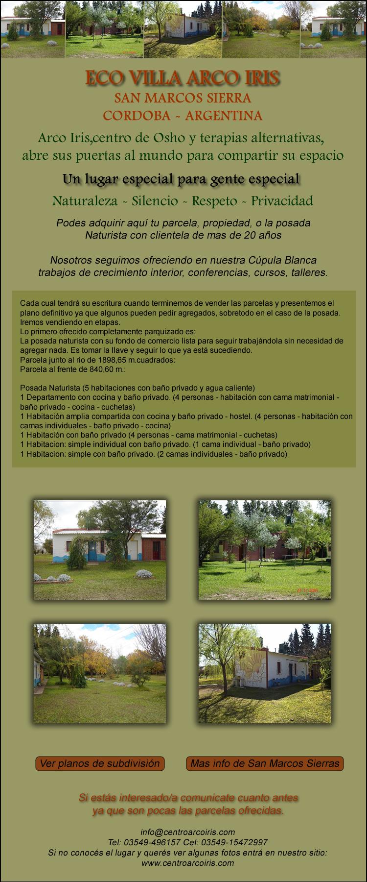 Eco Villa Arco Iris - Parcelas - Lotes - Posada - comprar